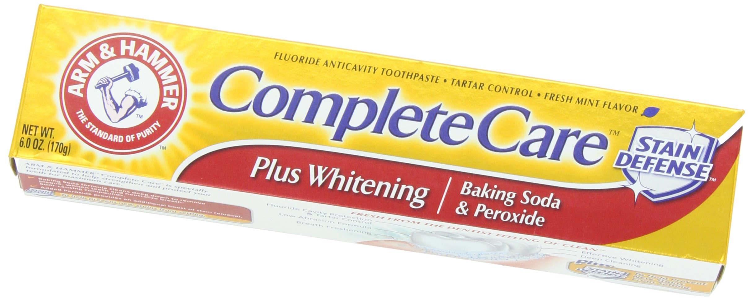 Arm & Hammer Complete Care Toothpaste, 6 oz (Pack of 6) (Packaging May Vary)