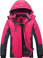 Wantdo Women's Mountain Waterproof Ski Jacket Windproof Rain Jacket Winter Warm