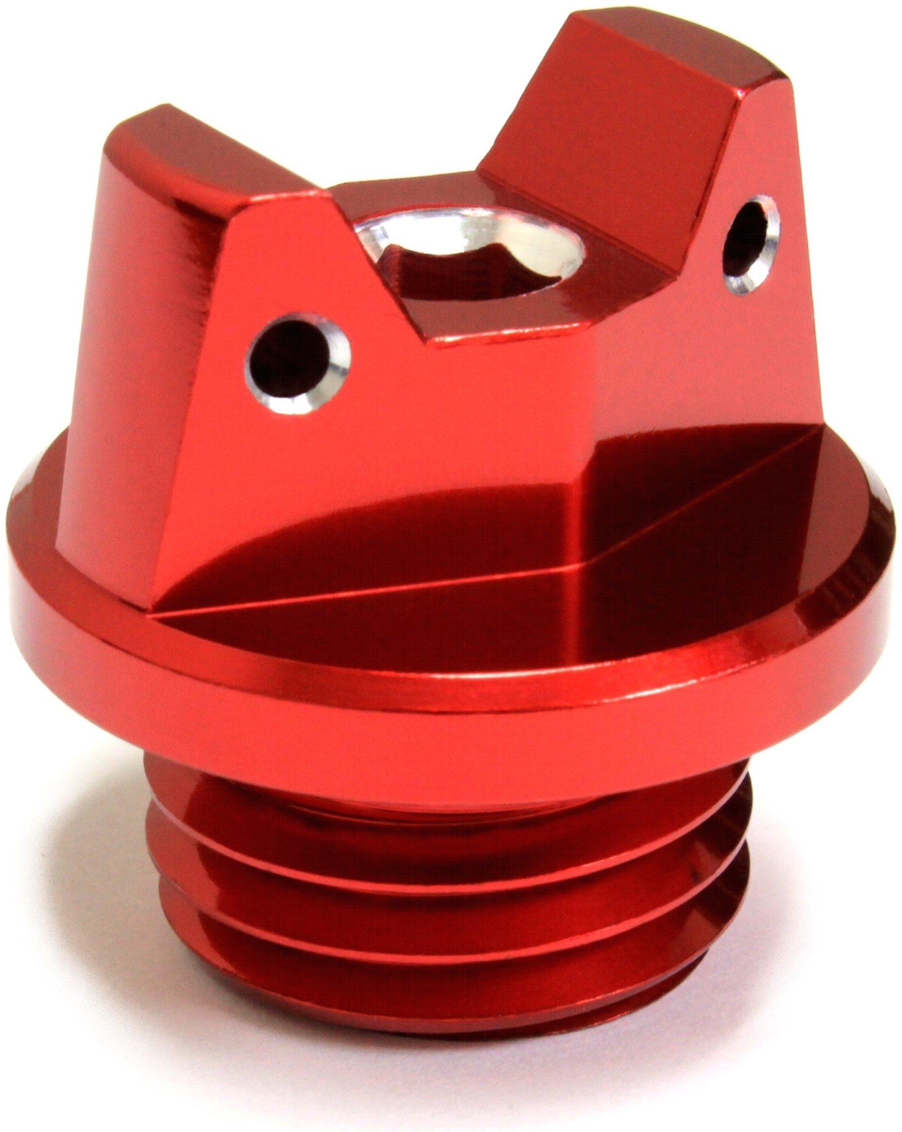 MotoSculpt Oil Fill Cap Plug (RED) for Honda CR125R CR250R CRF150R CRF250R CRF450R CRF450X TRX450R