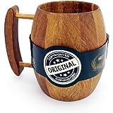 Hot Muggs - Bierfass Wooden Mug 550ml, 1 Pc