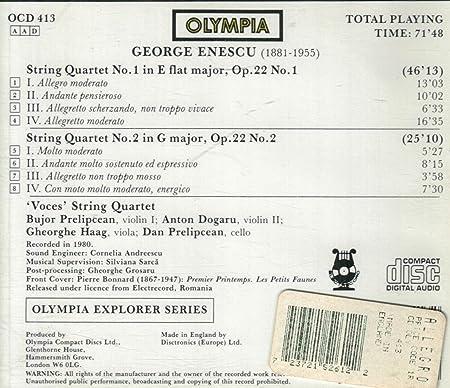 Amazon | Enescu:String Qts. 1 ...