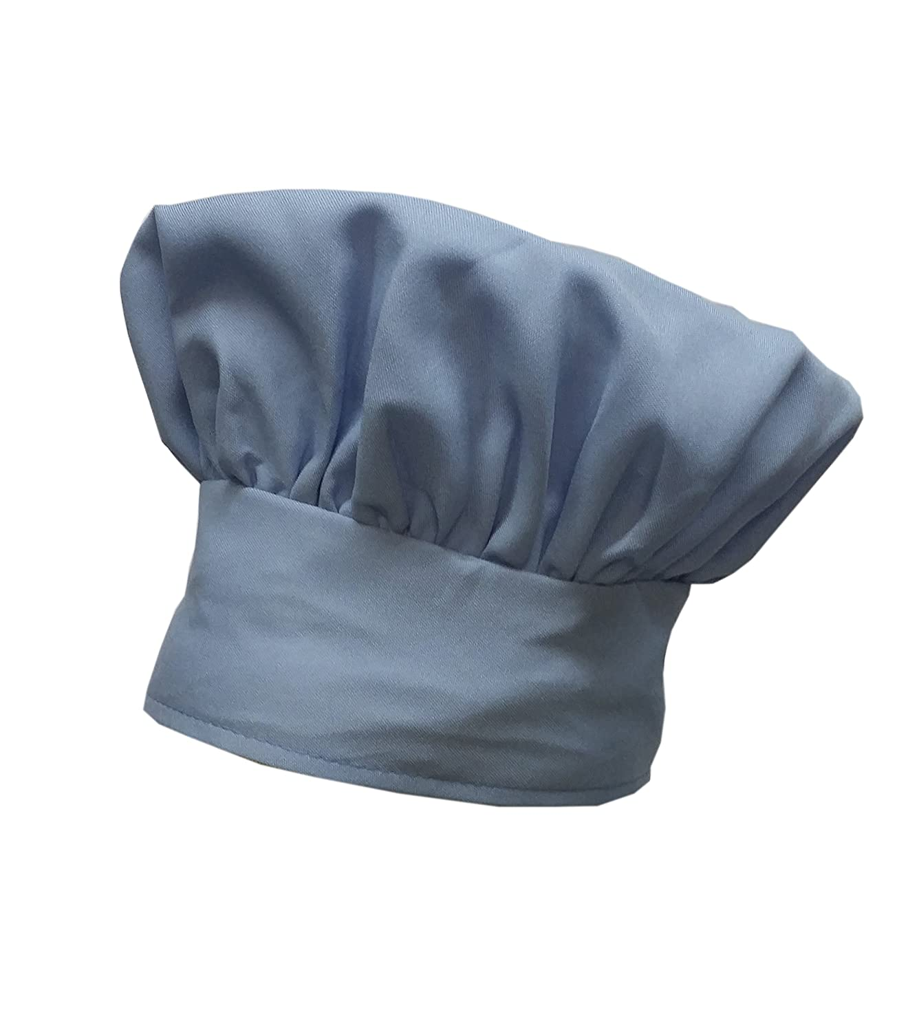 BEAUTIFUL Chefskin Baby Blue Chef Hat Mushroom Style with Velcro CHEFSKIN MUSHROOM