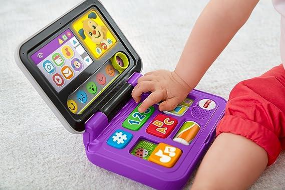 Amazon.es: Fisher-Price Mi primer ordenador, juguete educativo ...