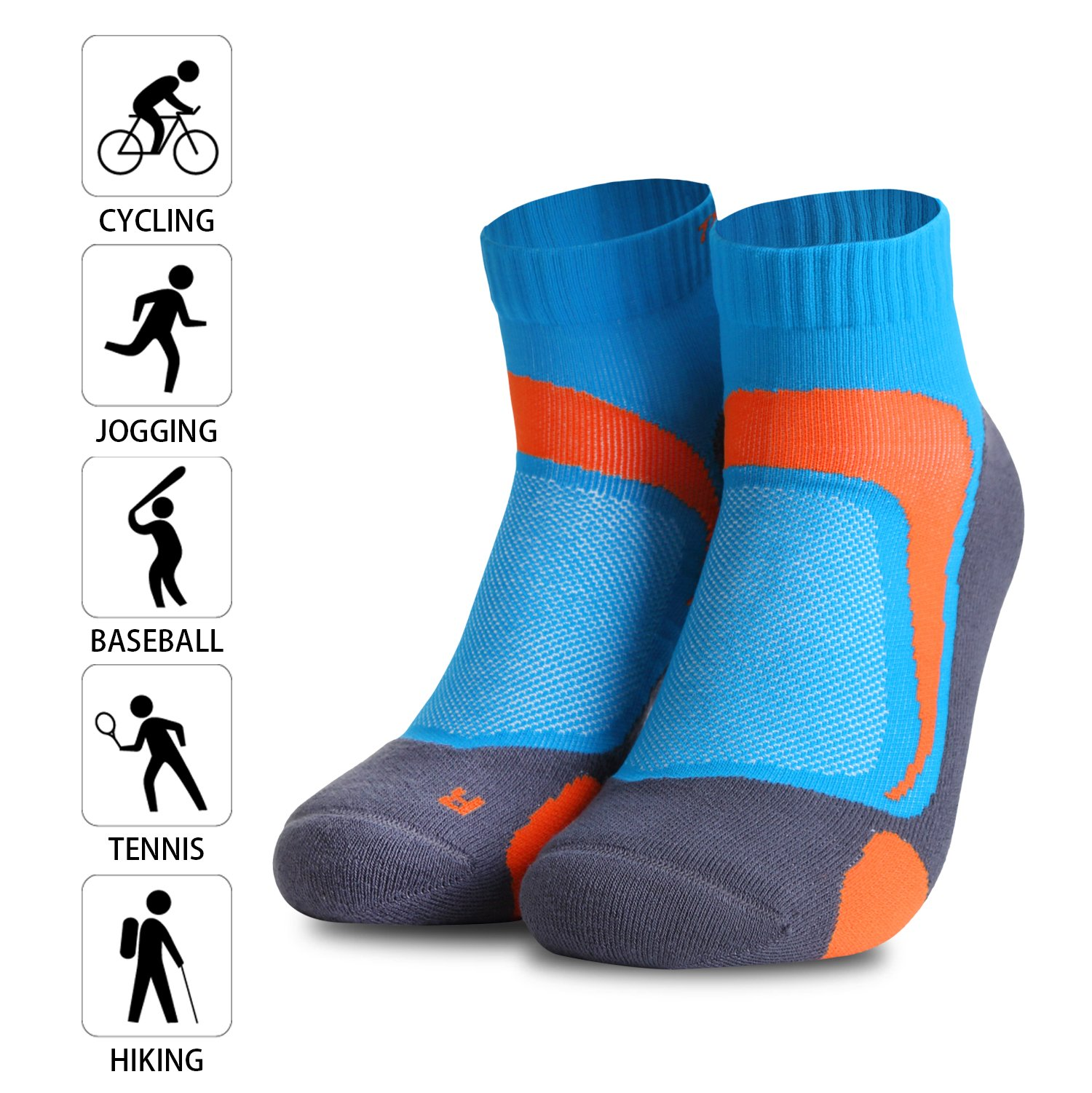 Compression Socks Anklet Low Cut Athletic & Running Socks For Women And Men, Best For Hiking, Cycling, Running And Other Sports