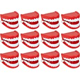 Juvale 12-Pack Wind Up Chomping & Chattering Teeth Toys for Kids Birthday Party Favors, Novelty and Gag Gifts, 2.5 x 1.5…