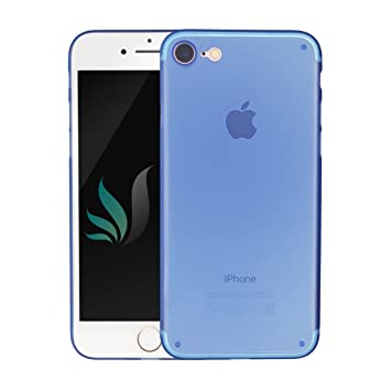 Iphone Design | Iphone 8 Iphone 7 Design Hulle Matt Blau Amazon De Elektronik