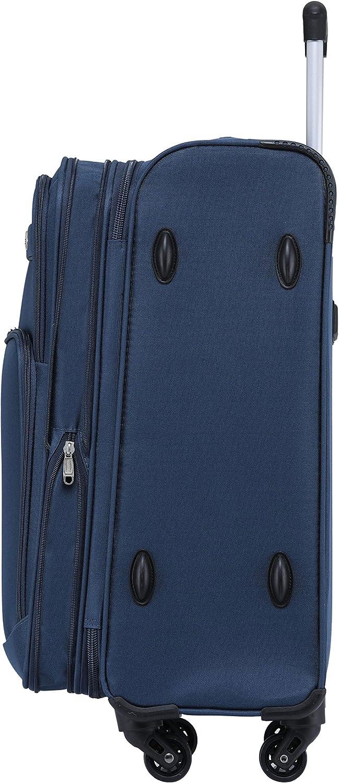 BEIBYE 4 Rollen Reisekoffer 3tlg.Stoffkoffer Handgep/äck Kindergep/äck Gep/äck Koffer Trolley Set-XL-L-M Blau, XL-Gro/ßer Koffer-74cm
