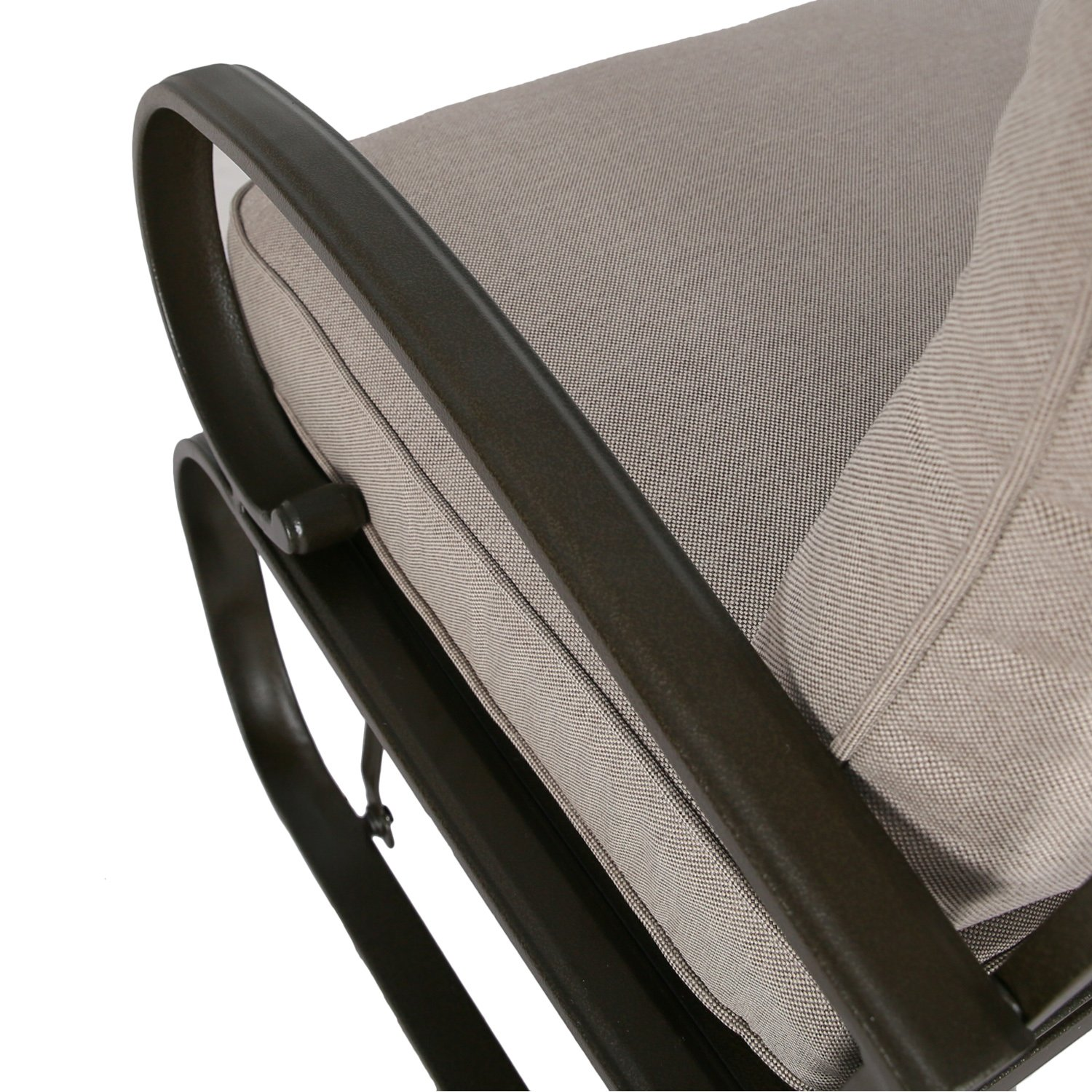 patio swing glider bench outdoor cushioed 2 person rocking chair