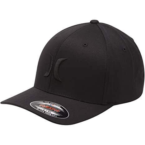 detailed look 05bb2 ed0e1 Hurley Mens One   Only Flex Fit BW Hat MHA0002190,Black,L XL  Amazon.in   Sports, Fitness   Outdoors