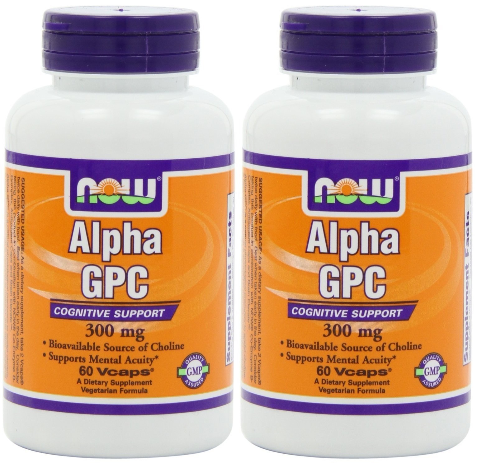 Now Foods Alpha Gpc 300mg, 60-Veg-Capsules (2 Pack)