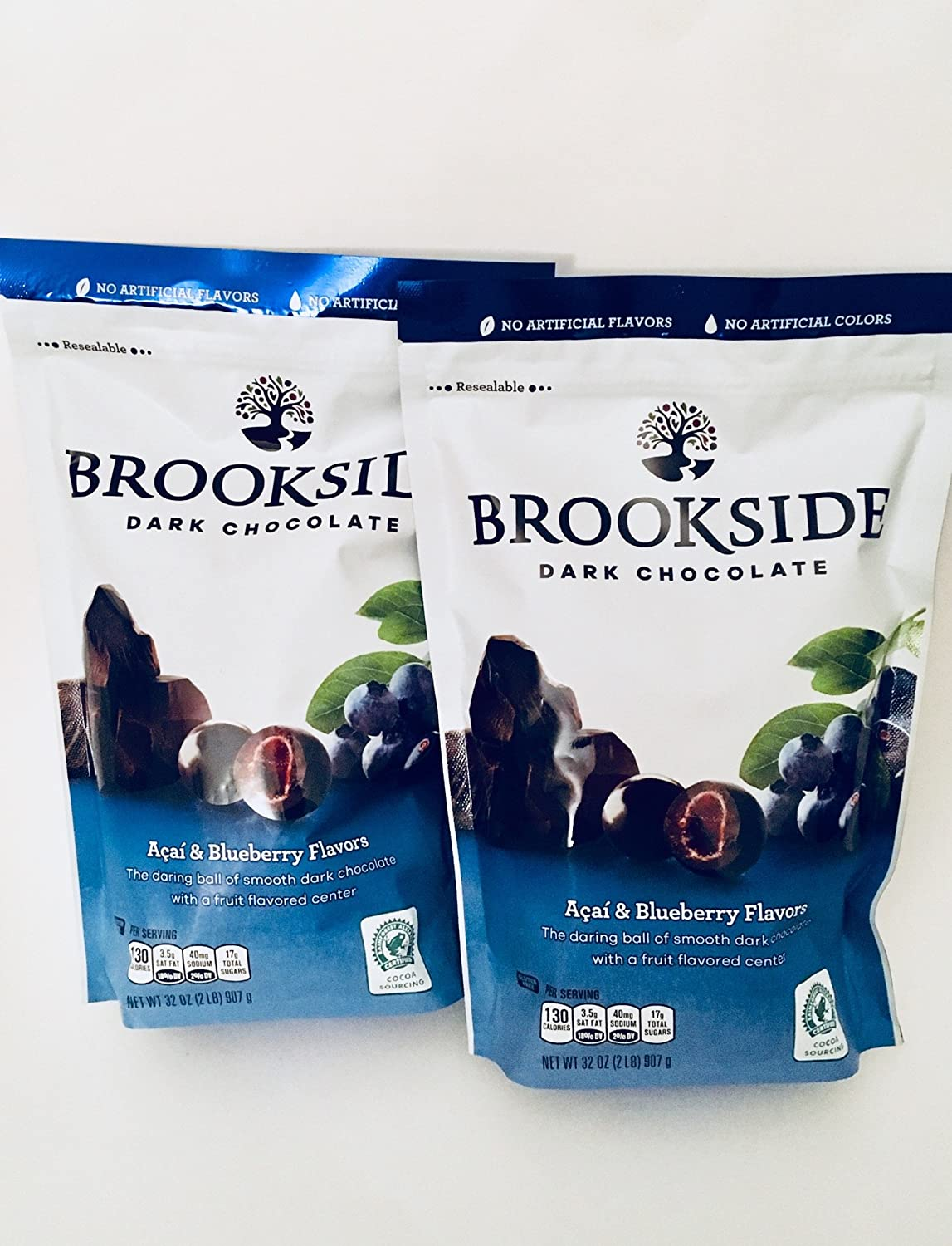 Brookside Dark Chocolate Acai and Flavors Candy Blueberry, 64 Ounce (Pack of 2)