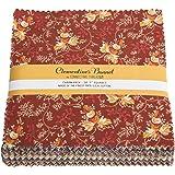 "Connecting Threads Collection Precut Quilting Fabric Bundle (Clementine's Bonnet - 5"" Charm Squares)"