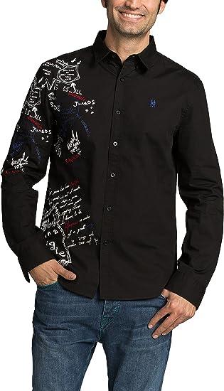 Desigual CAM_BOLIMANIA Camisa, Negro 2000, XL para Hombre ...