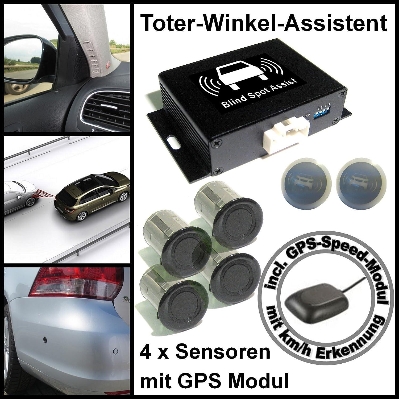 Cellnet Toter Winkel Assistent Spurwechsel Assistent Mit 4 X Universal High Class Sensoren Incl Gps Speed Modul Auto