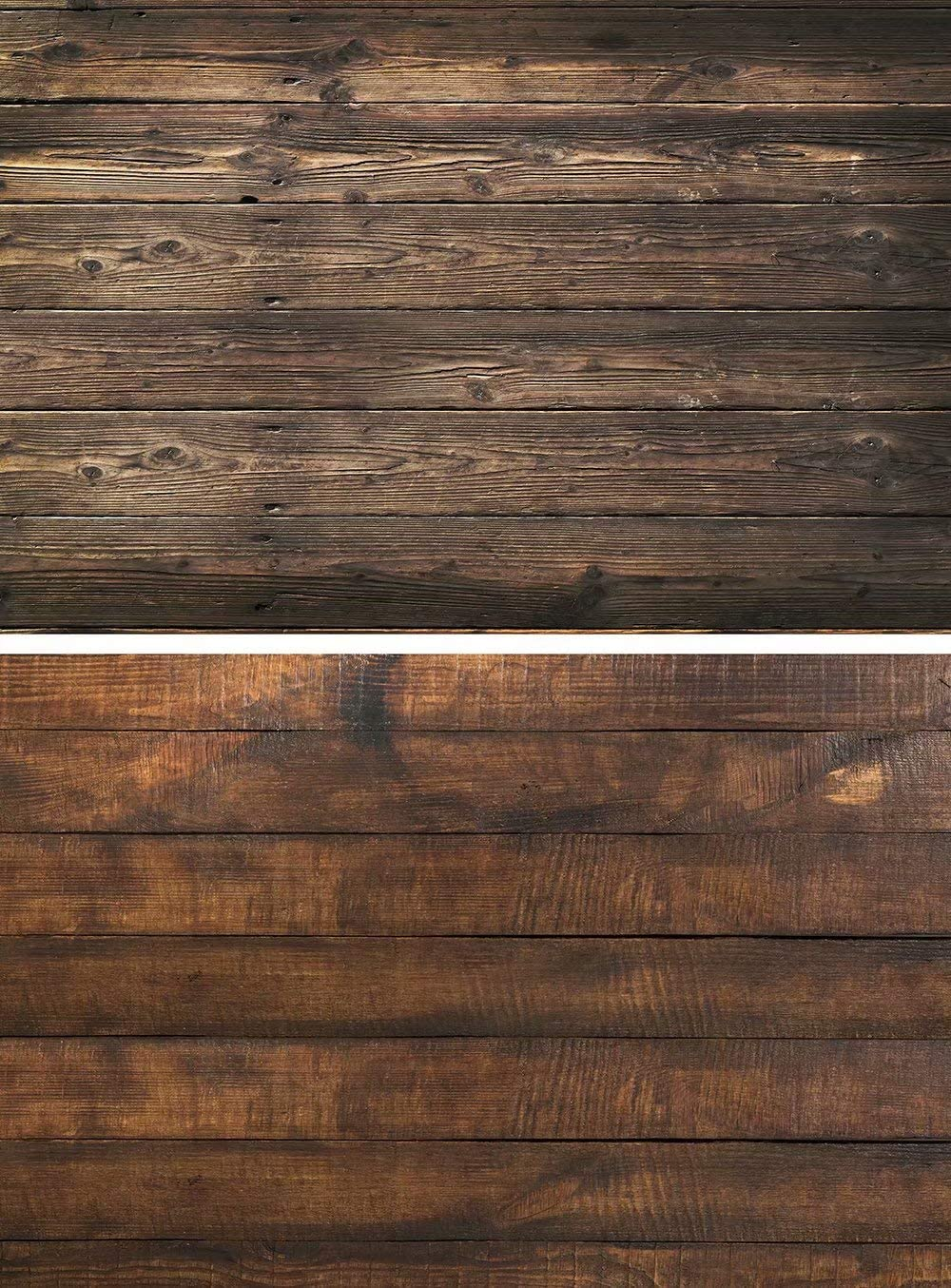 2 Patterns Photographic Background Vintage Wood Texture Grainy Board Background Food Photography Blogger Cosmetic Photo Camera Flat Lay Backdrop Shabby Chic Wood Double Video photoshoots 32.6x21.6''