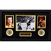 $149 » Bobby Orr Boston Bruins Signed Autograph Custom Framed 8x10 Photo Photograph Suede Matted to 18x26 Great North Orr Hologram & COA