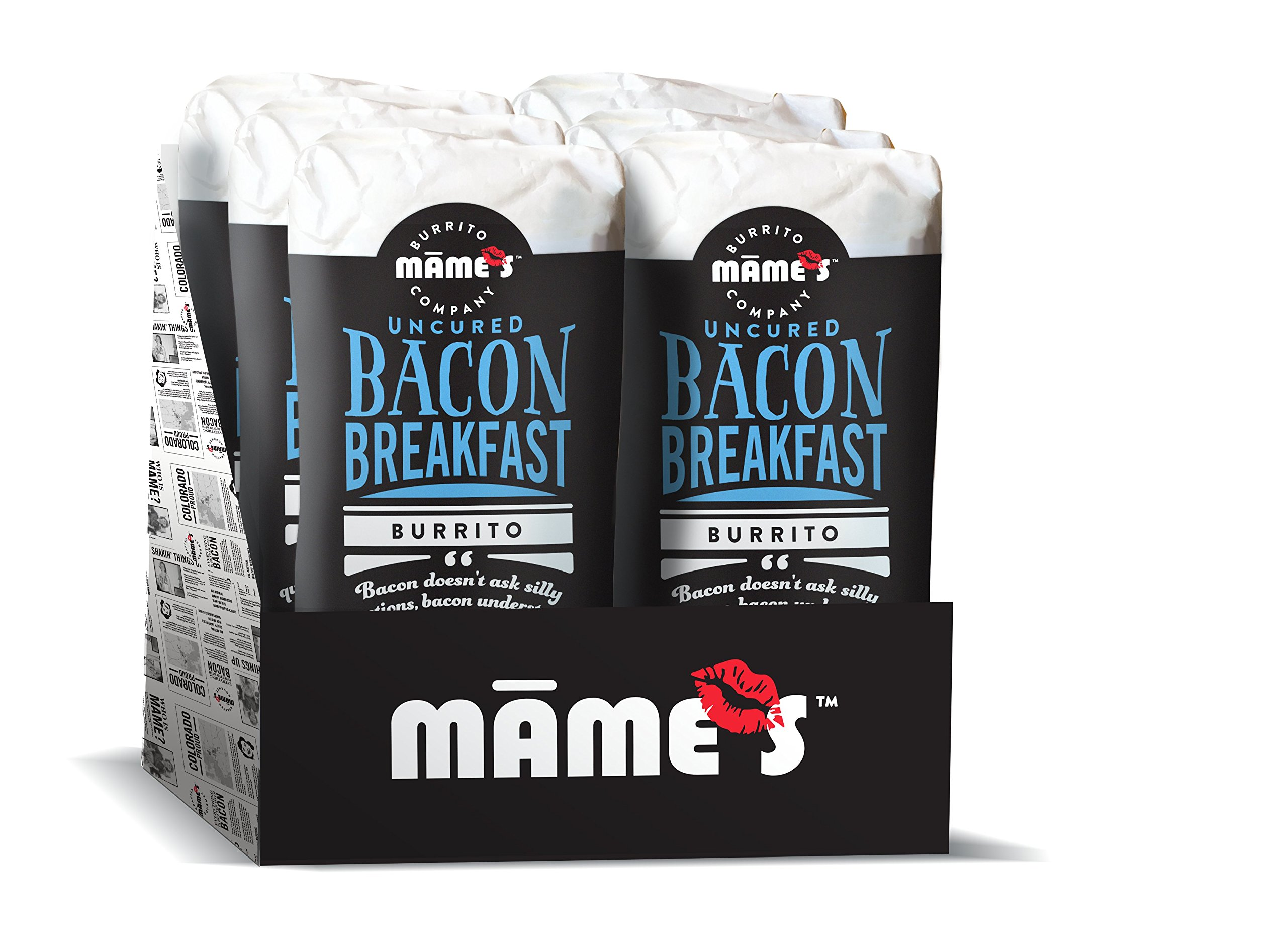 Mame's Burrito Company Bacon Breakfast Burrito, 7 Ounce (Pack of 12) by Mame's Burrito Company