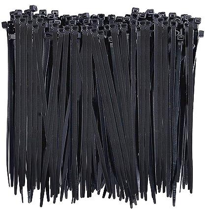 ca7ecf12d814 Amazon.com: 150 PCS Nylon Cable Ties, Multi-Purpose Black Zip Ties  Self-Locking Small Zip Ties Heavy Duty Zip Ties, Indoor and Outdoor UV  Resistant, ...