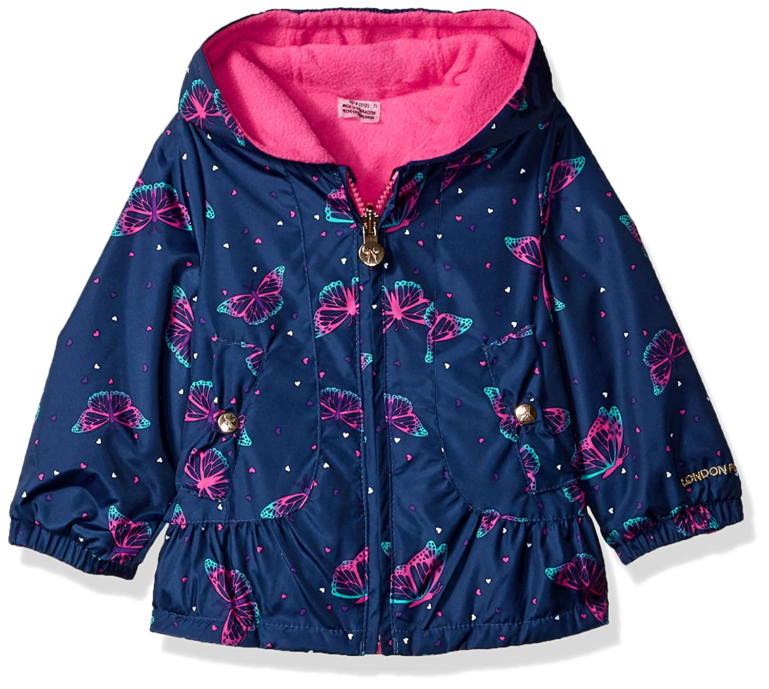 London Fog Baby Girls Reversible Sensible & Soft Jacket Coat