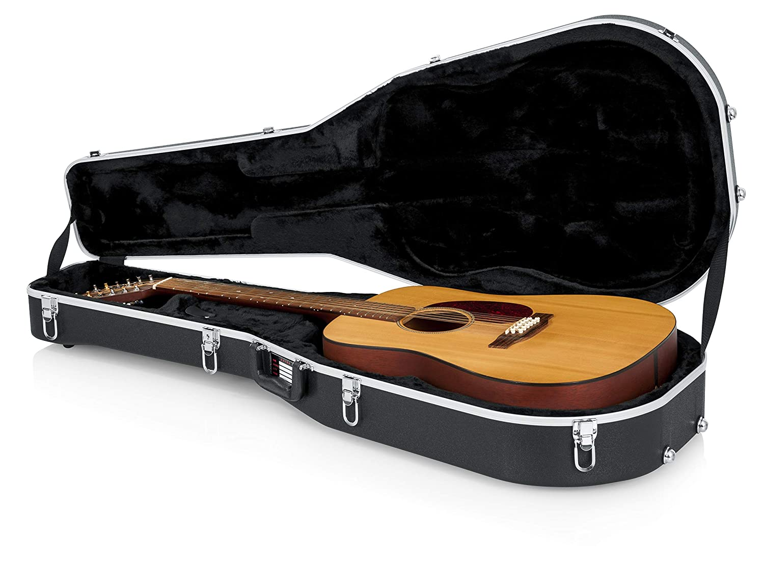 GATOR GC-DREAD-12 - Estuche para guitarra dreadnought (interior moldeado), color negro: Amazon.es: Instrumentos musicales