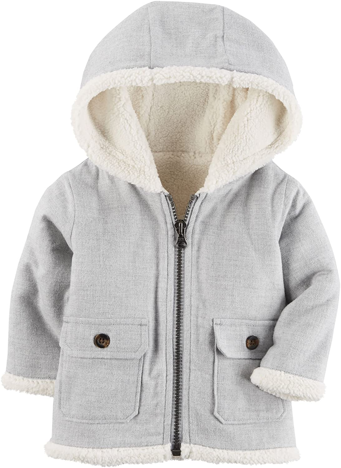 Carter's Baby Boys' 3M-24M Hooded Sherpa Zip Jacket