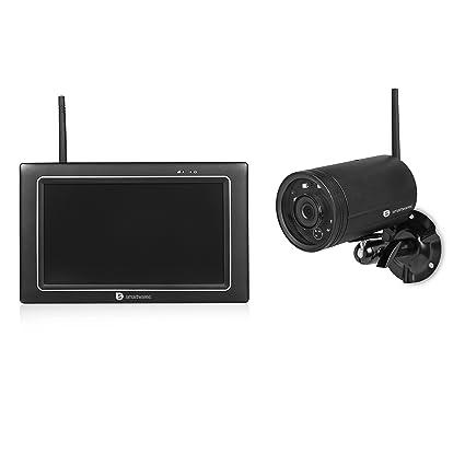 Smartwares CMS-31098 Sistema de cámara de Seguridad WiFi, 720p HD, Pantalla táctil