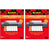 Scotch Thermal Laminating Pouches, 100-Pack, 8.9 x 11.4 inches, Letter Size Sheets (TP3854-100) - Pack of 2