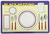 Painless Learning Place Setting Placemat  sc 1 st  Amazon.com & Amazon.com: Tot Talk Table Setting \u0026 Etiquette Educational Placemat ...