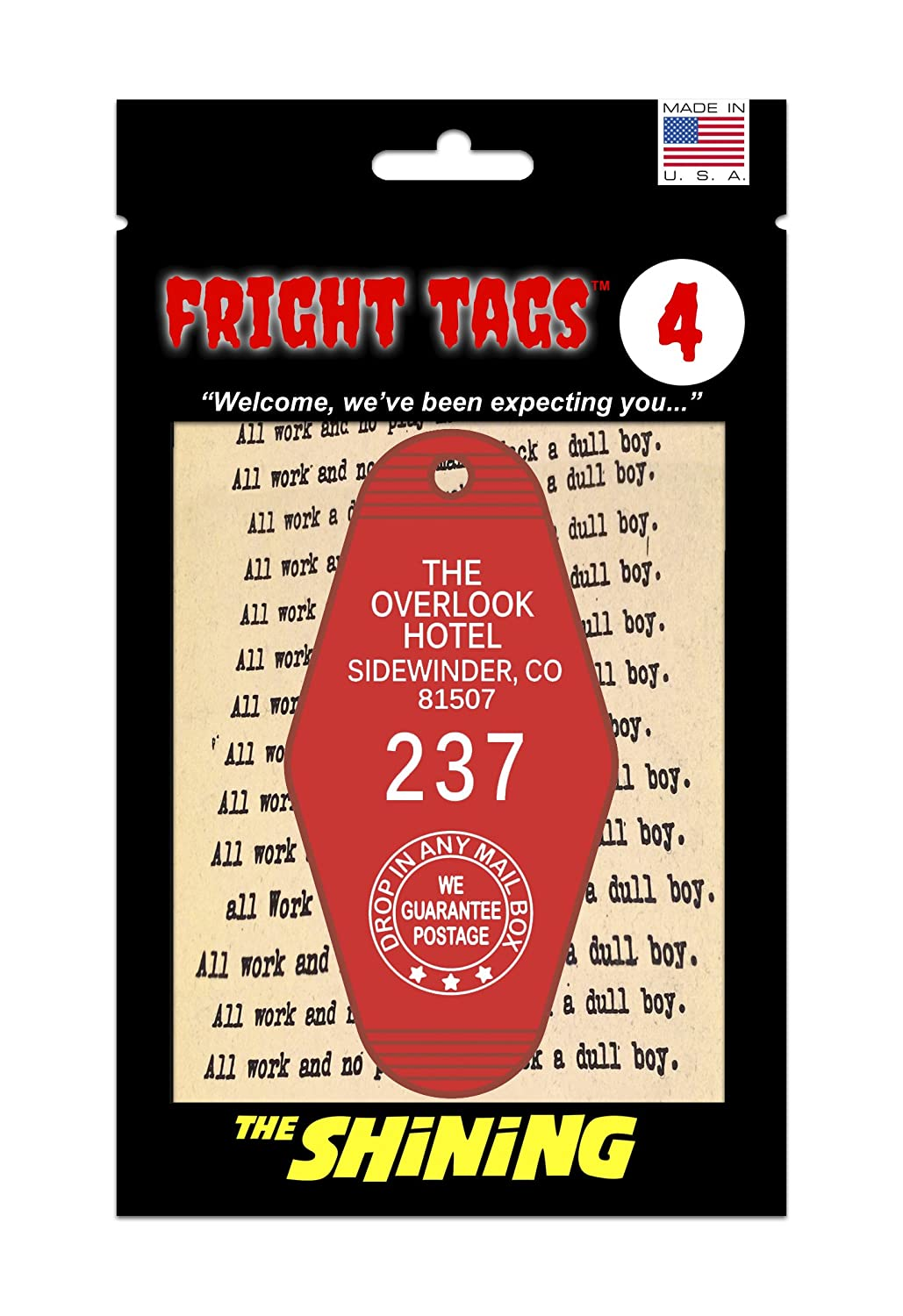 Fright Tags # 4 Key Tag - The Overlook Hotel #237 (Red) - The Shining GW and Son