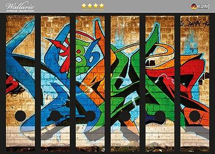 Lomo de archivadores Design Graffiti 186 – pared con diferentes Tags en Premium Calidad – Tamaño