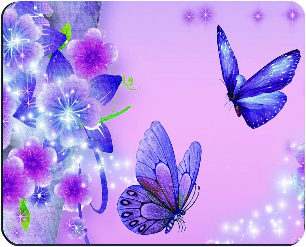 Purple Butterfly Customized Rectangle Mousepad, Mouse Pad