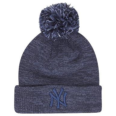 358b8d16d73 New Era MLB Marl Bobble Knit New York Yankees Bobble Beanie Royal Blue  Navy  Amazon.co.uk  Clothing