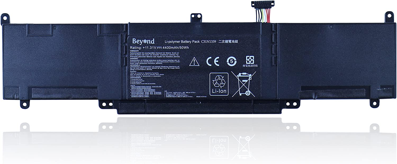 ASUS ZenBook UX303LN Series. ASUS ZenBook UX303 Series Replacement BEYOND Battery for ASUS C31N1339 ASUS ZenBook UX303L UX303LA UX303LB Series 11.31V 50Wh, 12 Months Warranty