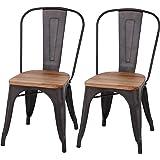 家具の赤や チェア 2脚セット ダイニングチェア チェアー スチールチェア スチール 椅子 いす おしゃれ アンティーク カフェ