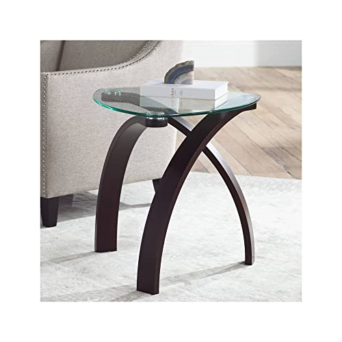 Gianna 23 1 2 Wide Espresso and Glass Modern End Table – Studio 55D