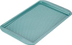 Farberware Ceramic Nonstick Bakeware, Nonstick Cookie Sheet / Baking Sheet - 11 Inch x 17 Inch, Aqua Blue