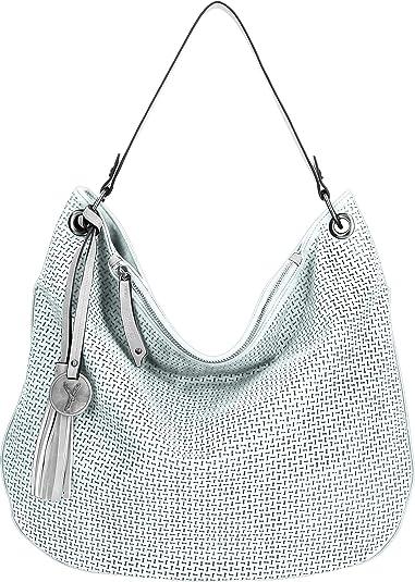 SURI FREY Phoeby Hobo Bag Schultertasche Umhängetasche Tasche Blue Silber Blau