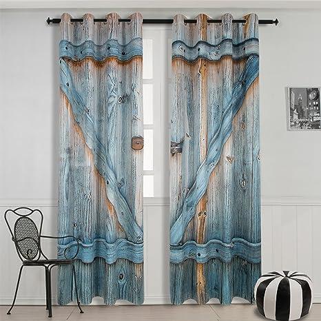 Starsglowing 2 Stücke Gardinen Vorhänge gardine blickdicht Vorhang vorhang  verdunkelung gardinen + ösen 175 x 137 cm (typ 3)