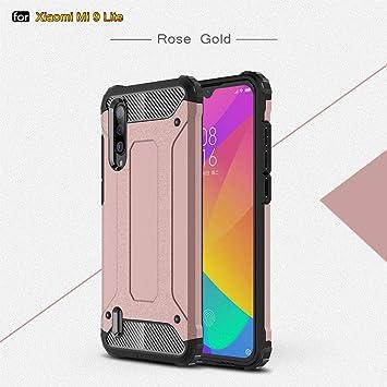 XIFAN Funda para Xiaomi Mi 9 Lite, protección contra Golpes de TPU + PC Resistente a arañazos (Doble Capa) Carcasa para Xiaomi Mi 9 Lite, Oro Rosa: Amazon.es: Electrónica