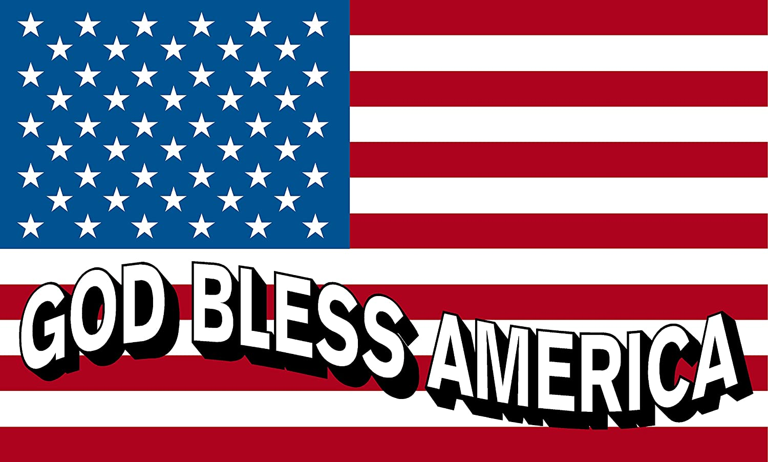 American Flag USA Decal GOD BLESS THE USA 3 PACK PATRIOTIC STICKERS