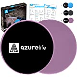A AZURELIFE Exercise Core Sliders, Dual Sided Exercise Gliding Discs Use on Carpet or Hardwood Floors, Light and Portable, Pe