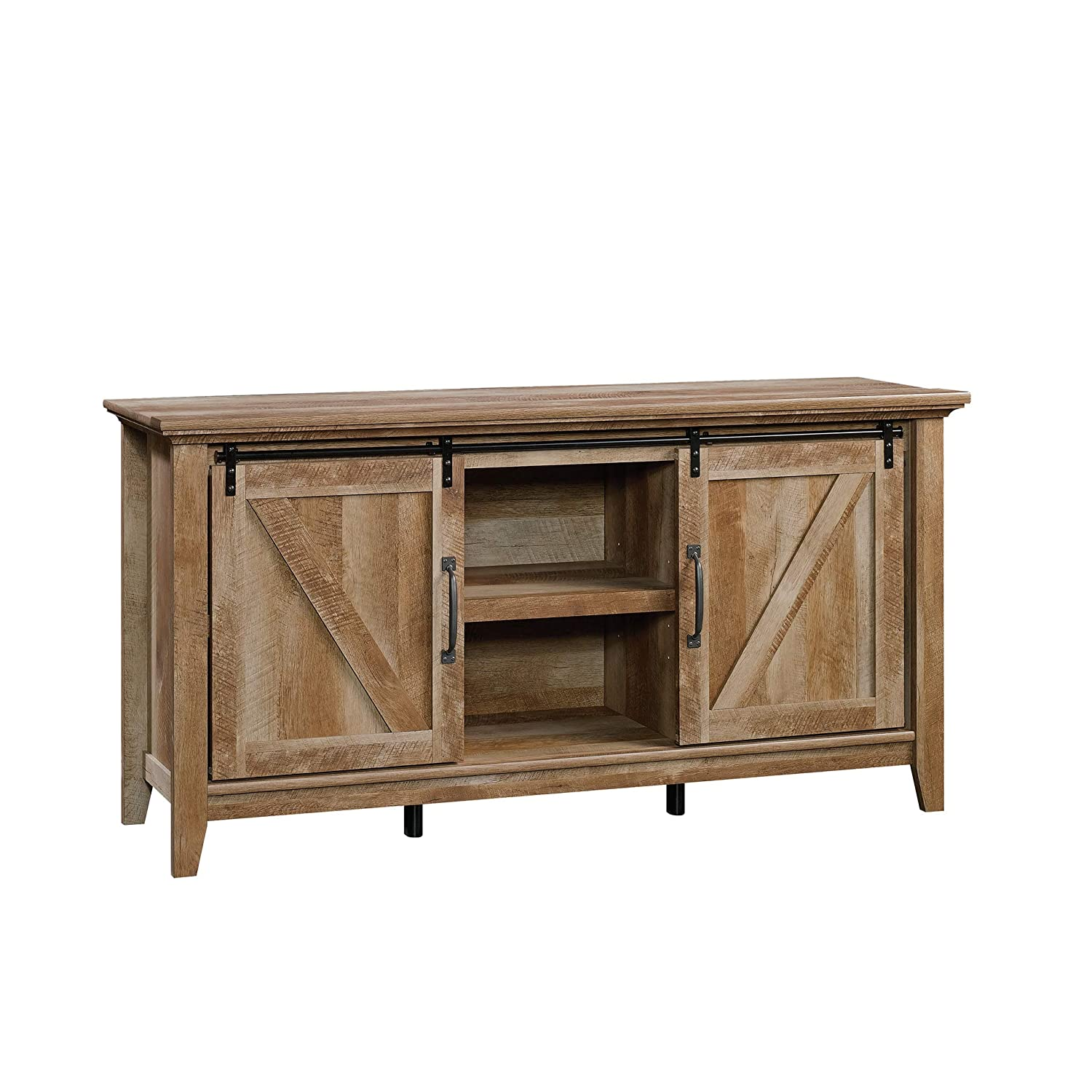 Sauder Dakota Pass Credenza, For TV s up to 70 , Craftsman Oak finish