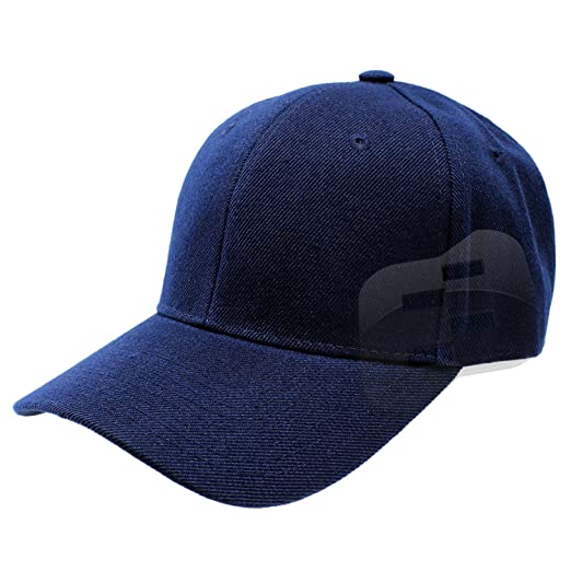 Enimay Baseball Hats Caps Curved Bill Solid Color No Logo Navy Blue ... ba10e31dbc2