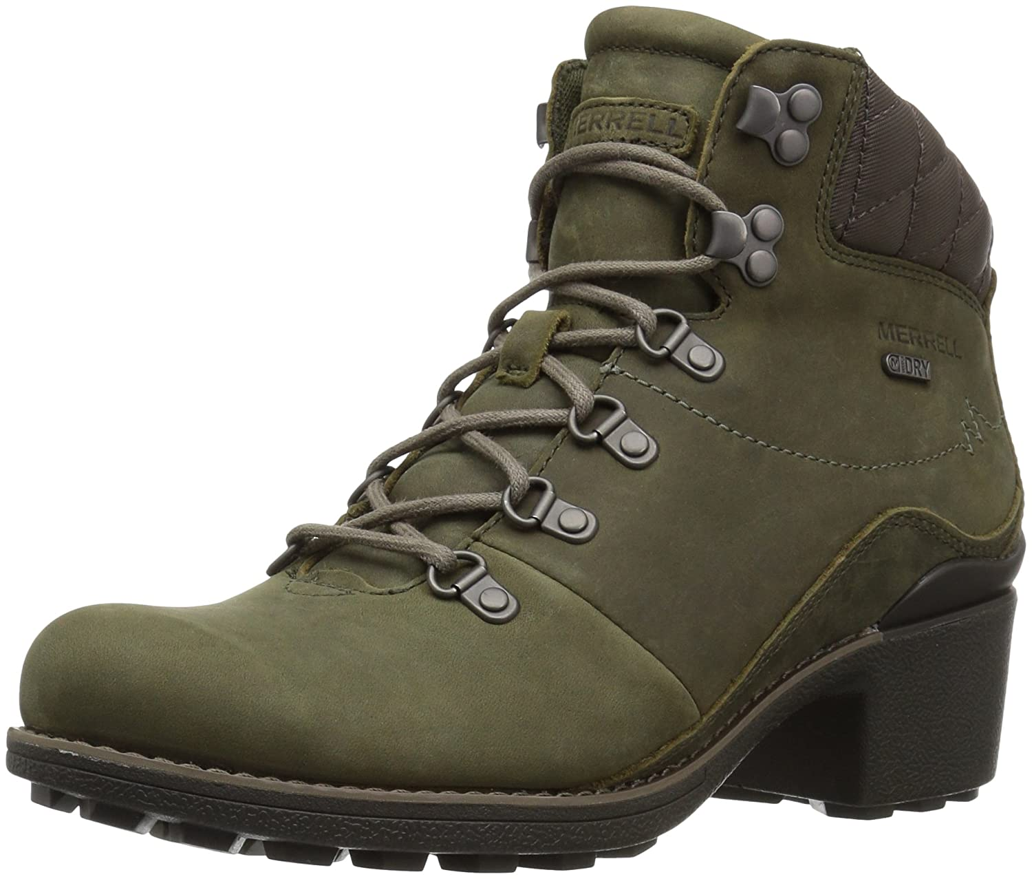 Merrell Women's Chateau Mid Lace Waterproof Snow Boot B01NGYEARU 10 B(M) US|Dusty Olive