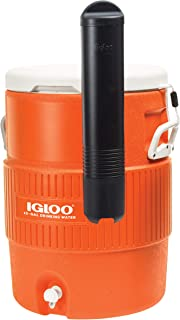 product image for Igloo 10-Gallon Seat Top Water Jug with Cup Dispenser - Orange (2 Pack)