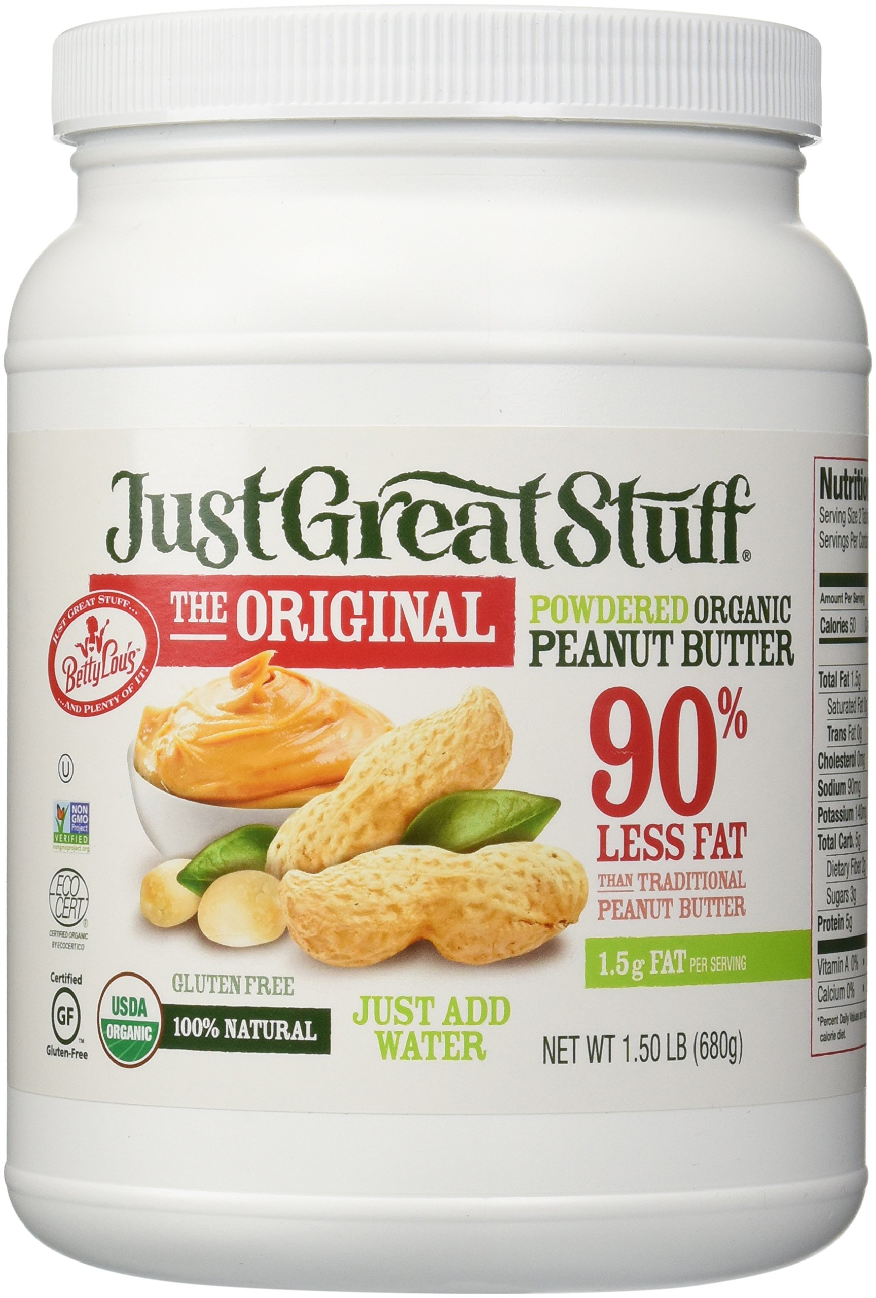 Betty Lou's Organic Powdered Peanut Butter, 1.5 Pound