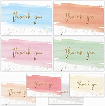 Envelopes Included Thank You Card Set Party Thank you Greeting Card Wedding Thank you card