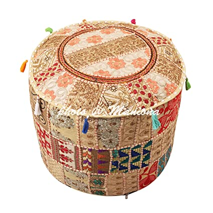 Surprising Amazon Com Maniona 18 Round Ethnic Cotton Patchwork Frankydiablos Diy Chair Ideas Frankydiabloscom