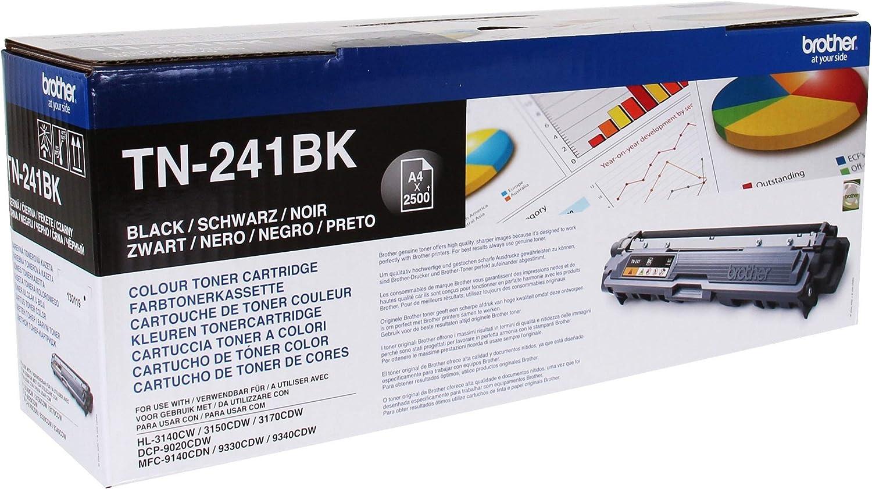Brother TN241BK - Cartucho de tóner negro original para las ...