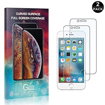 Tempered Glass Screen Protector for iPhone 7 Plus//iPhone 8 Plus UNEXTATI 3 Pack Apple iPhone 7 Plus//iPhone 8 Plus Screen Protector, Anti-Shatter